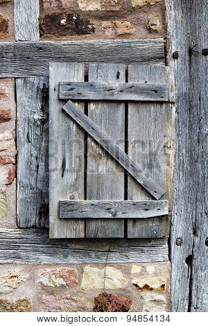 Old Rustic Wooden Barn Door