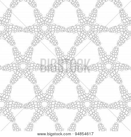 Primitive simple retro seamless pattern with stars