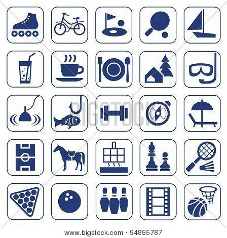 Icons, Leisure, Entertainment...