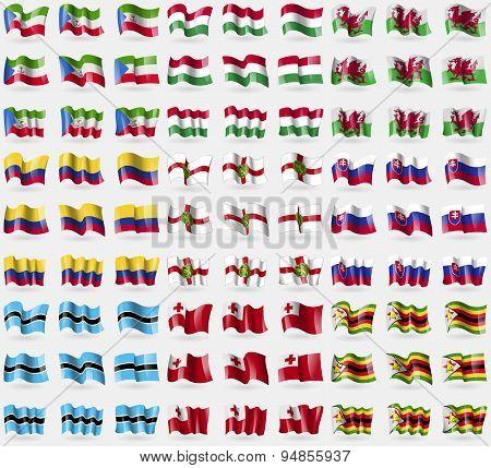 Equatorial Guinea, Hungary, Wales, Colombia, Alderney, Slovakia, Botswana, Tonga, Zimbabwe. Big Set