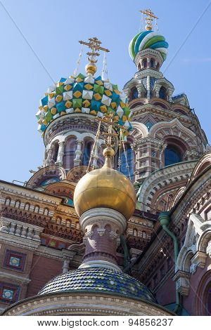 Dome of The Church of the Savior on Spilled Blood