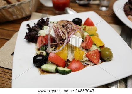 Greek Salad In Cafe