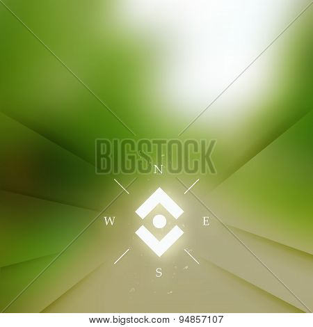 Rural Background With Blurred Way