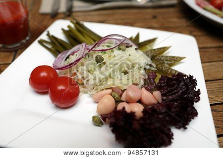 Plate With Pickles