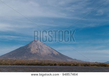Ometepe Vulcano Concepcion View From Water, Nicaragua