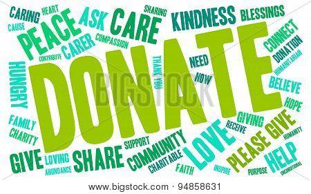 Donate Word Cloud