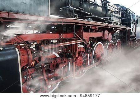 Old Locomotive Wheels