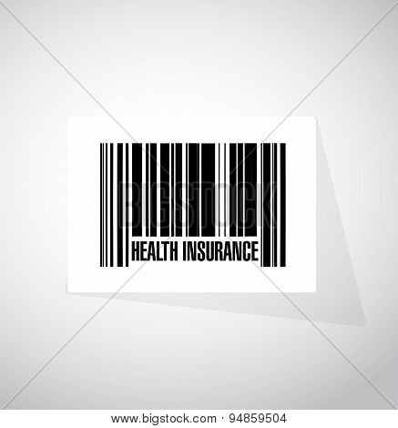 Health Insurance Barcode Sign Concept