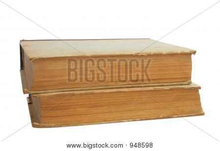 Two Vintage Books  Pure White Background