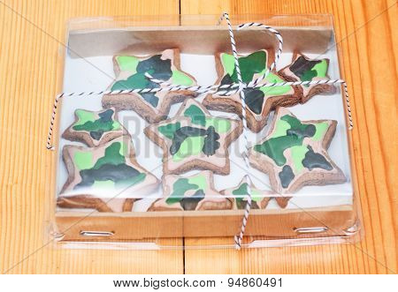 Handmade Biscuits In The Shape Of Stars