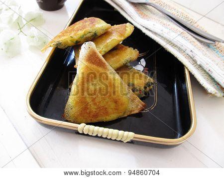 Filo Pastry Triangles.