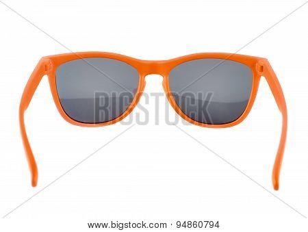 Orange sun glasses isolated