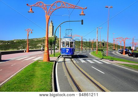 Tramway Line On The City Embankment.