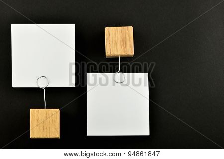 Opposite Opinion, Two Paper Notes On Black Background For Presentation