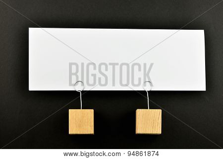 Together, One Big Paper Note On Black For Presentation