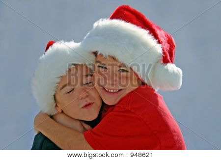 Boy Hugging Brother