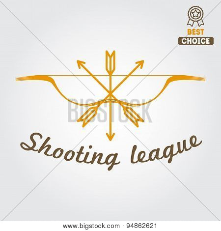 Logo, emblem, label or logotype elements for hunting club, shooting club