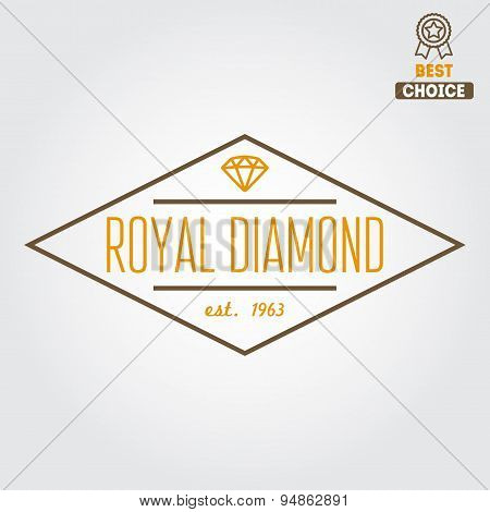 Logo, emblem, label, print, sticker or logotype elements for jewelry