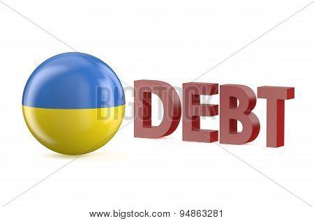 Ukraine Debt Concept