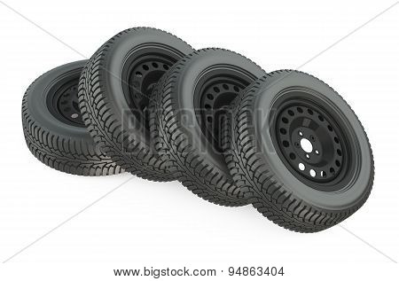 Group Of Automotive Wheels