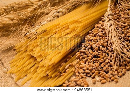 spaghetti, ears and herbs