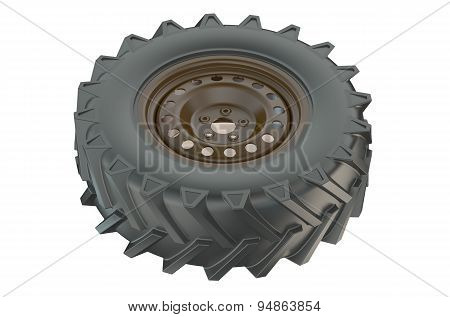 Tractor Wheel Closeup