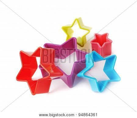 Star shaped baking molds isolated