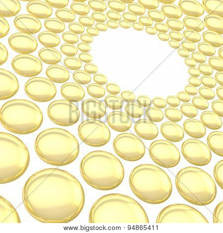 Abstract background made of spheres