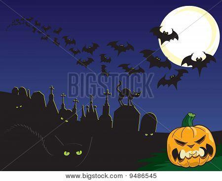 Escena de Halloween