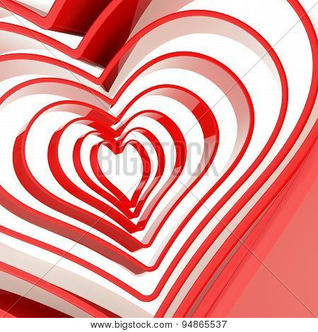 Heart shape figure abstract background