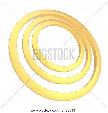 Round frame of three rings