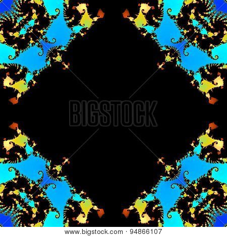 Abstract Colorful Fractal Pattern Or Frame Made Seamless