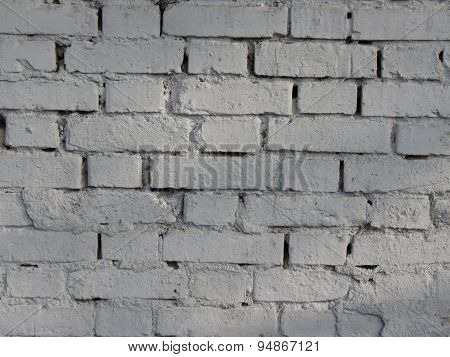 Brick Wall Brick Wall Painted In White