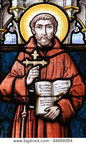 Stained Glass - Saint Francis Of Assisi