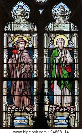 Stained Glass - Saint James And Saint Joseph