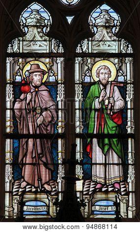 Stained Glass - Saint James And Saint Joseph