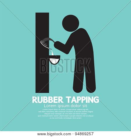 Black Symbol Rubber Tapping.