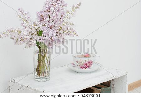 Gentle Spring Bouquet And Tea