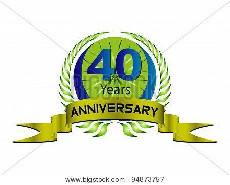 40 year anniversary golden label, 40th anniversary