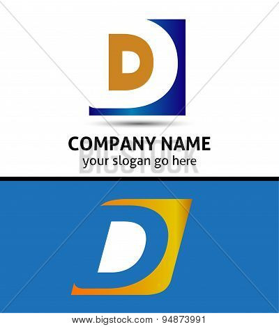 Corporate Logo D Letter company vector design template