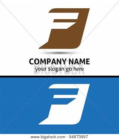 Corporate Logo F Letter company vector design template