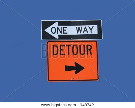 Conflicting Direction Signs