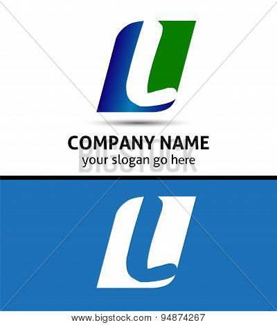 Corporate Logo L Letter company vector design template