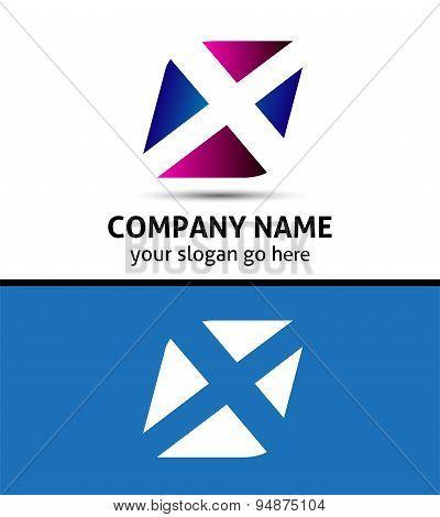 Alphabetical Logo Design Concepts. Letter X