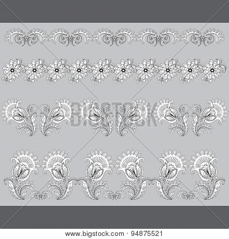 Set of paterns, borders for design