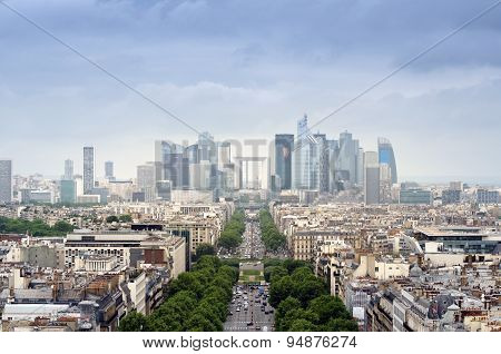 La Defense Business Area In Paris