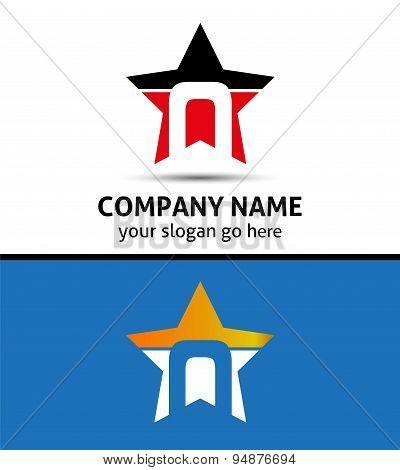 Alphabet icon N logo
