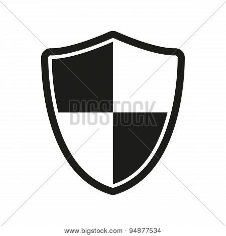 The Shield Icon. Security And Safety, Firewall Symbol.