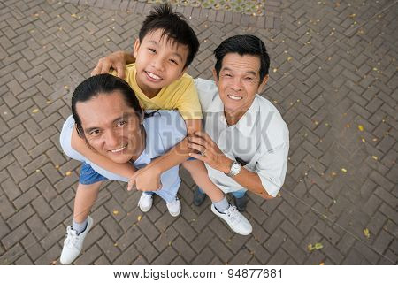 Senior Man, His Son And Grandson