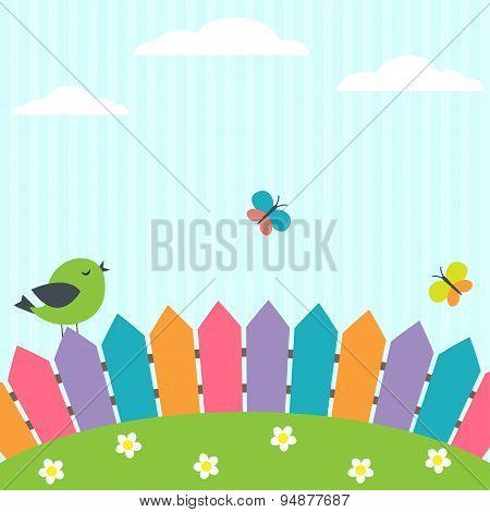 Bird And Butterflies